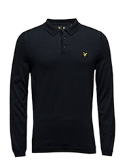 LS Mercerised Cotton Knitted Polo - NAVY