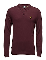 Knitted Polo Shirt - CLARET JUG