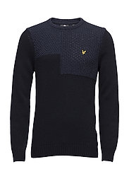 Patchwork Jumper - NAVY
