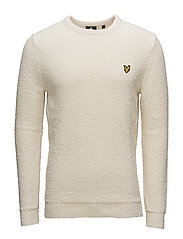 Towelling Jumper - SEASHELL WHITE