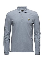 LS Plain Polo Shirt - BLUE MARL