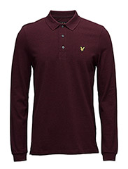 LS Plain Polo Shirt - CLARET MARL