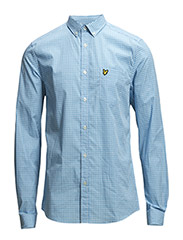 LS Gingham shirt - School Blue