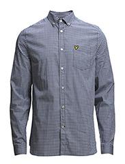 LS Gingham shirt - ADMIRAL BLUE