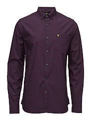 Gingham Check Shirt - NAVY / CLARET JUG