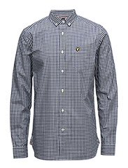 Gingham Check Shirt - NAVY