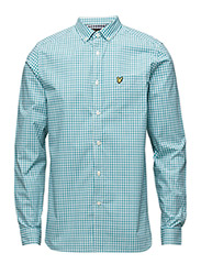 Gingham Check Shirt - PAGODA BLUE