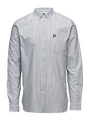 Oxford Stripe Shirt - GLAZE BLUE