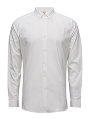 Plain Poplin Shirt - WHITE