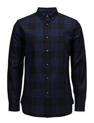 LS Block Check Shirt - TRUE BLACK