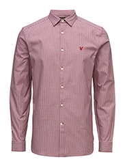 LS Zig Zag Texture Shirt - RUBY