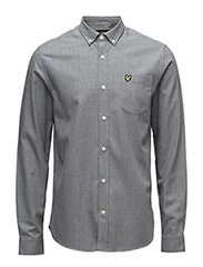 Marl Flannel Shirt - MID GREY MARL