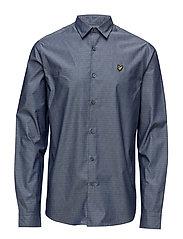 Diagonal Running Stitch Shirt - NAVY