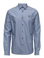 Diagonal Running Stitch Shirt - RIVIERA