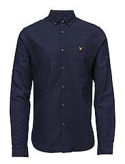 Quilt Look Shirt - NAVY