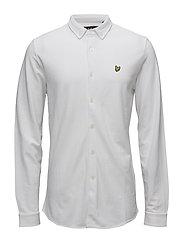 Jersey Pique Shirt - WHITE