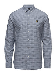 Geometric Print Shirt - BLUE STEEL