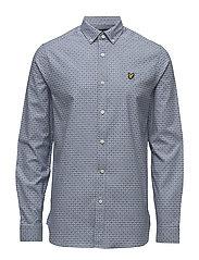 Geometric Print Shirt - BLUE STEEL