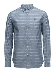 Stripe Print Shirt - BLUE STEEL