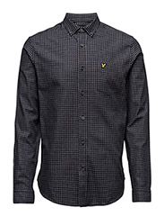 Mouline Gingham Shirt - CHARCOAL MARL