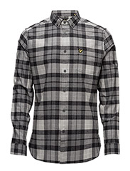 Check Flannel Shirt - CHARCOAL MARL