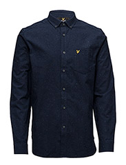 Brushed Fleck Shirt - NAVY