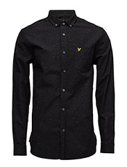 Brushed Fleck Shirt - TRUE BLACK