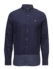 Stripe Twill Shirt - NAVY