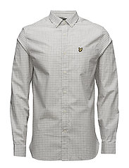 Gingham Shirt - LIGHT GREY MARL