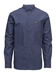 Gingham Shirt - STORM BLUE