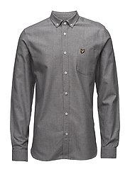 Twill Mouline Shirt - LIGHT GREY MARL