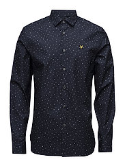 Paint Dot Print Shirt - NAVY