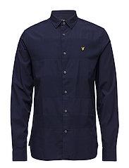 Textured Stripe Shirt - NAVY