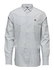 Textured Stripe Shirt - SKY BLUE MARL
