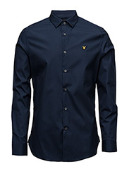 Poplin Slim Fit Shirt - NAVY