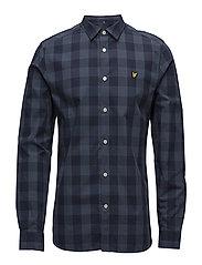 Block Check Shirt - NAVY