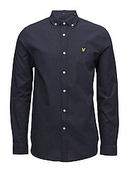 Multi-coloured Running Stitch Shirt - NAVY