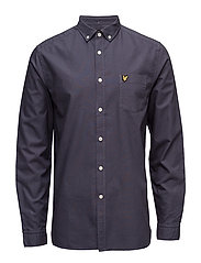 Garment Dye Oxford Shirt - WASHED GREY