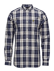 Poplin Check Shirt - OFF WHITE