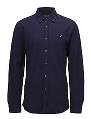 Honeycomb Jersey Shirt - NAVY