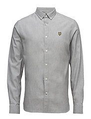 Brushed Chambray Shirt - MID GREY MARL