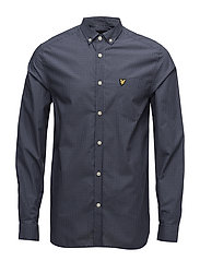 Mini Check Shirt - NAVY