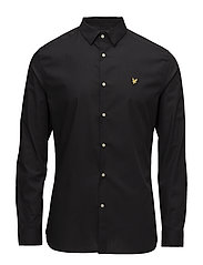 Slim Fit Poplin Shirt - TRUE BLACK