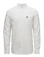 Cotton Linen Shirt - WHITE