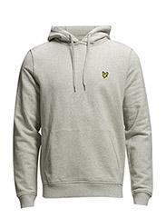 LS Pullover hoodie - Light Grey Marl
