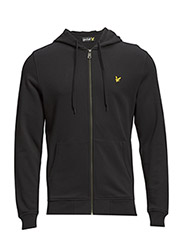 LS Zip through hoodie - True Black