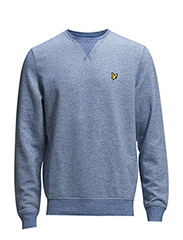 LS Marl crew neck sweatshirt - French Navy