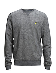 LS Marl crew neck sweatshirt - New Navy