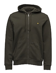 Zip Through Hoodie - DARK SAGE
