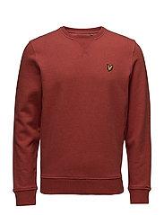 Crew neck sweatshirt - FLAME RED MARL